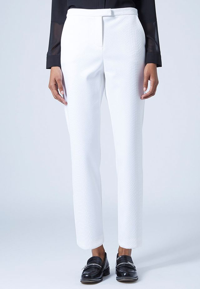 Topshop Textured Scuba Cigarette Trousers