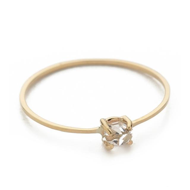 Kristen Elspeth Herkimer Diamond Quartz Pinky Ring