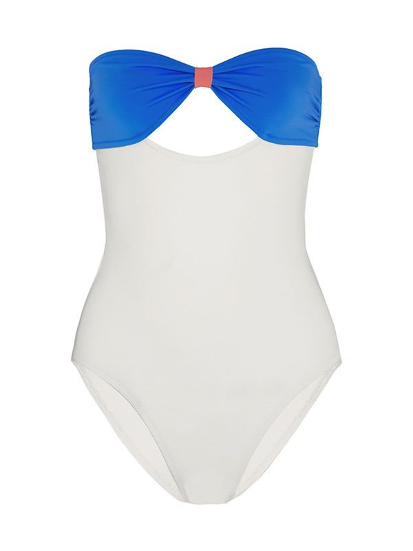 Poppy Delevingne + Solid & Striped Cutout Swimsuit