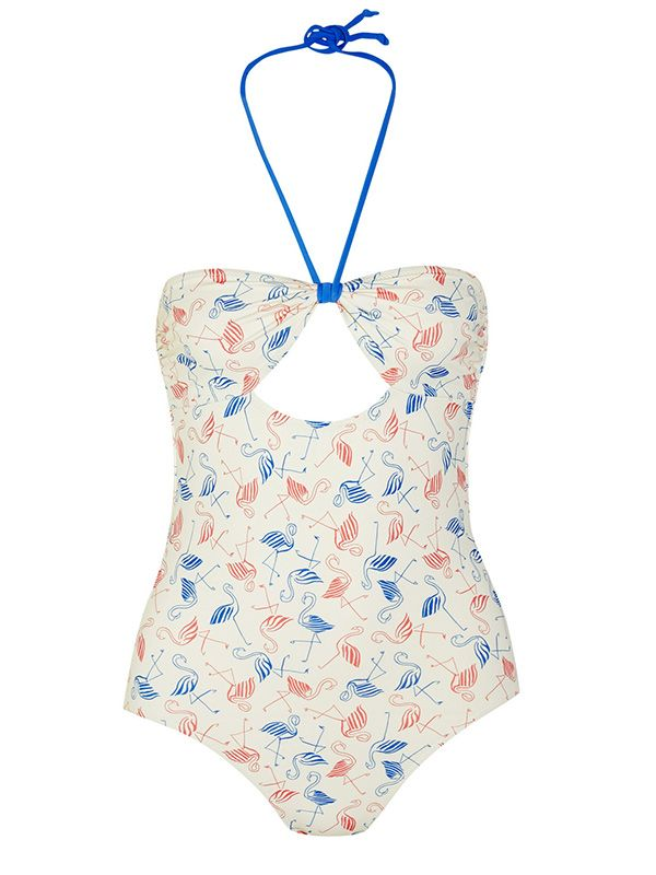 Poppy Delevingne + Solid & Striped Printed Cutout Swimsuit