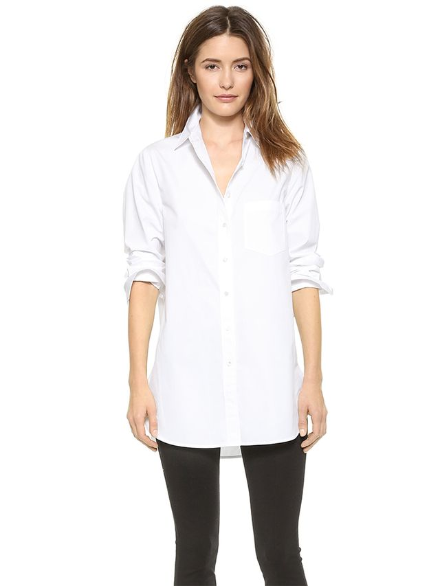 Vince Long Sleeve Poplin Tunic