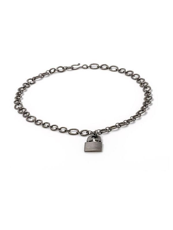 Jillian Dempsey Punk Lock Necklace