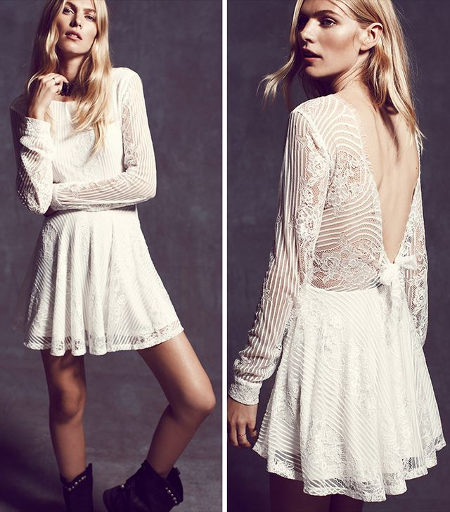 Free People Lolo Lace Fit and Flare Dress