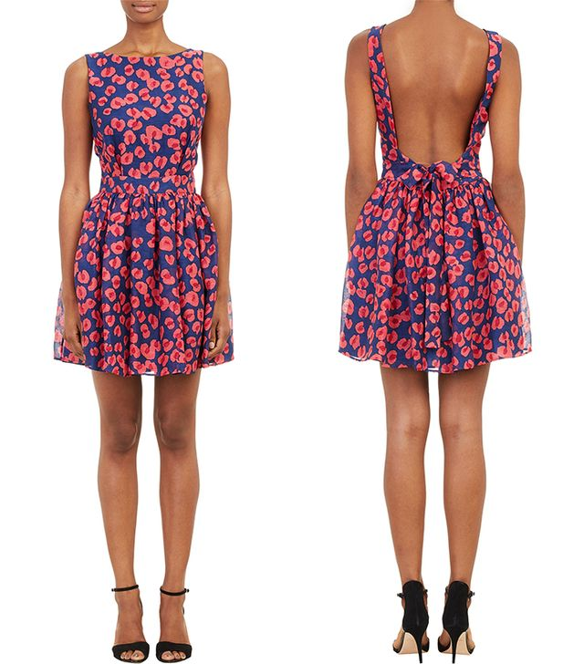 Thakoon Addition Blossom-Print Backless Dress