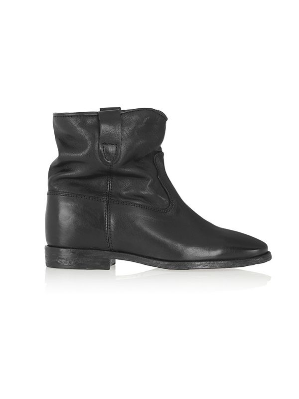 Etoile Isabel Marant Cluster Leather Concealed Wedge Boots