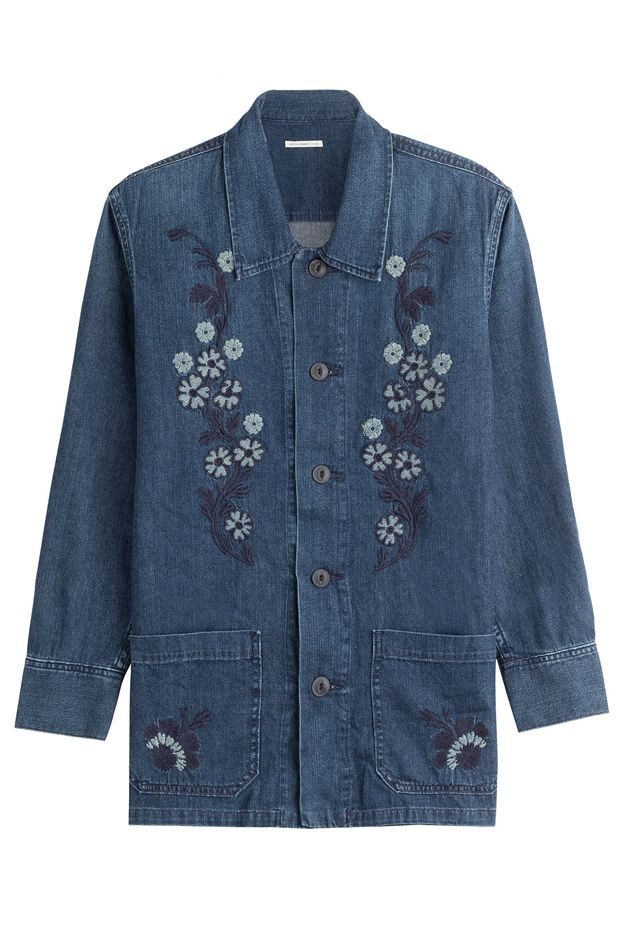 Alexa Chung for AG Poppy Embroidered Shirt