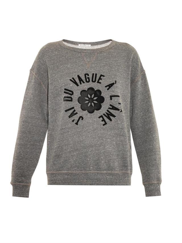 Alexa Chung for AG The New Wave Slogan Sweatshirt