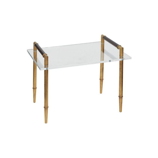 Zinc Door Benton Gold/Lucite Table