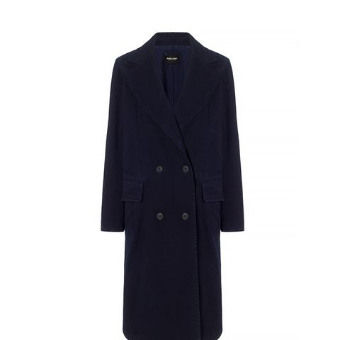 Navy Cotton Twill Freight Coat