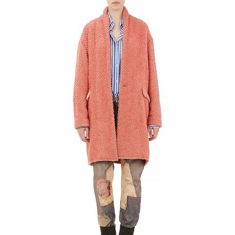 Harringbone Wool Gabriel Blanket Coat