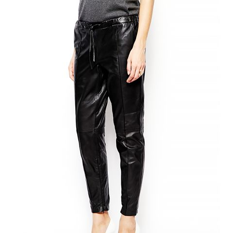 Tyras Leather Pant with Drawstring