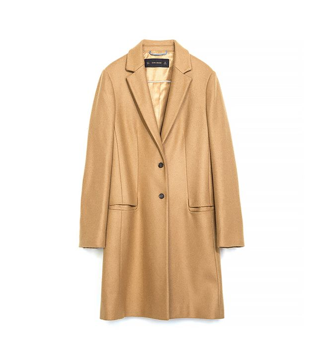 Zara Wool Camel Coat
