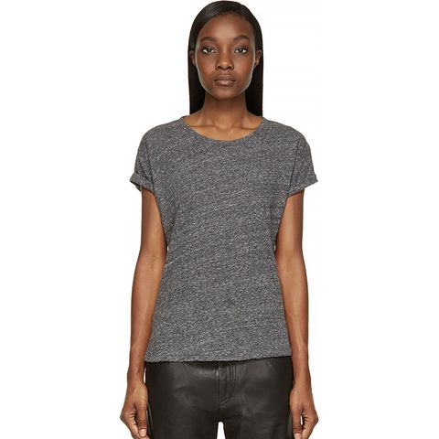 Grey Slub Laura T-Shirt