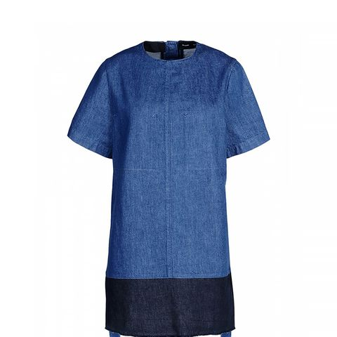 Denim T-Shirt Shift Dress