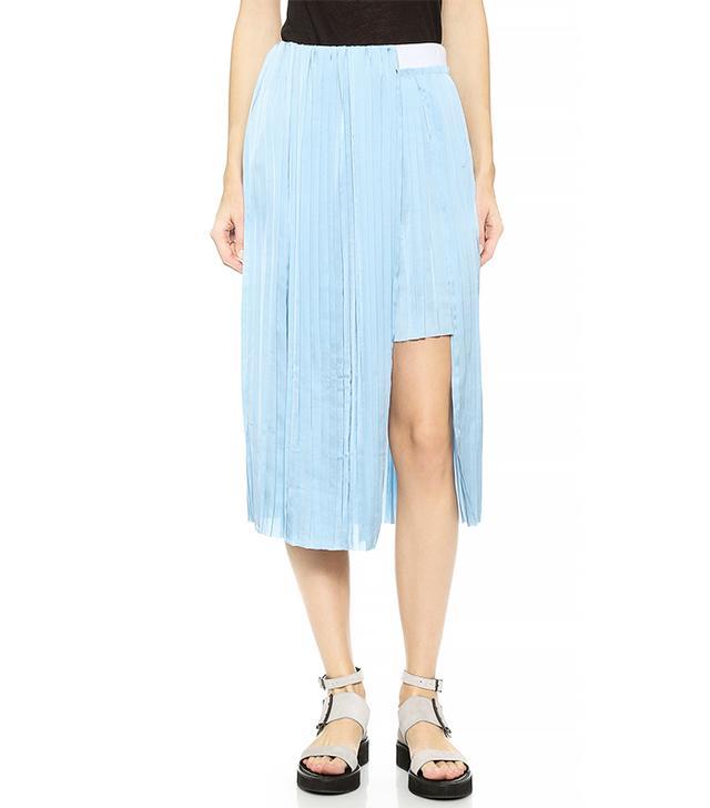 Dagmar Elba Asymmetrical Pleated Skirt