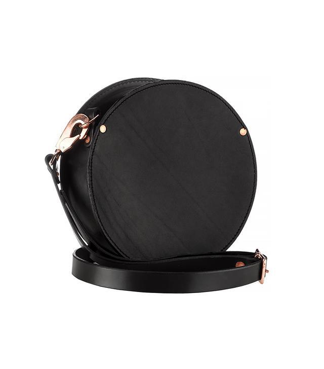 Alfie Douglas Black Leather Round Shoulder Bag