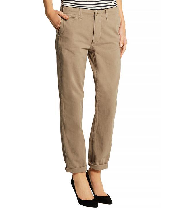 NLST Cotton-Twill Straight-Leg Pants