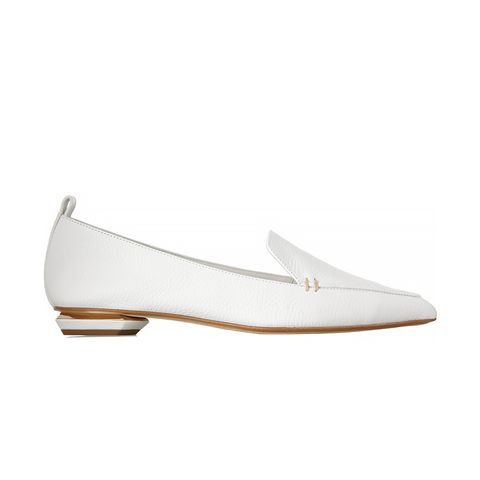 Textured Leather Point-Toe Flats
