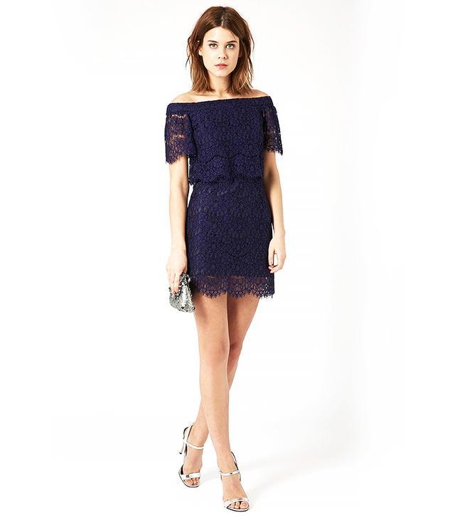 Topshop Bardot Lace Dress