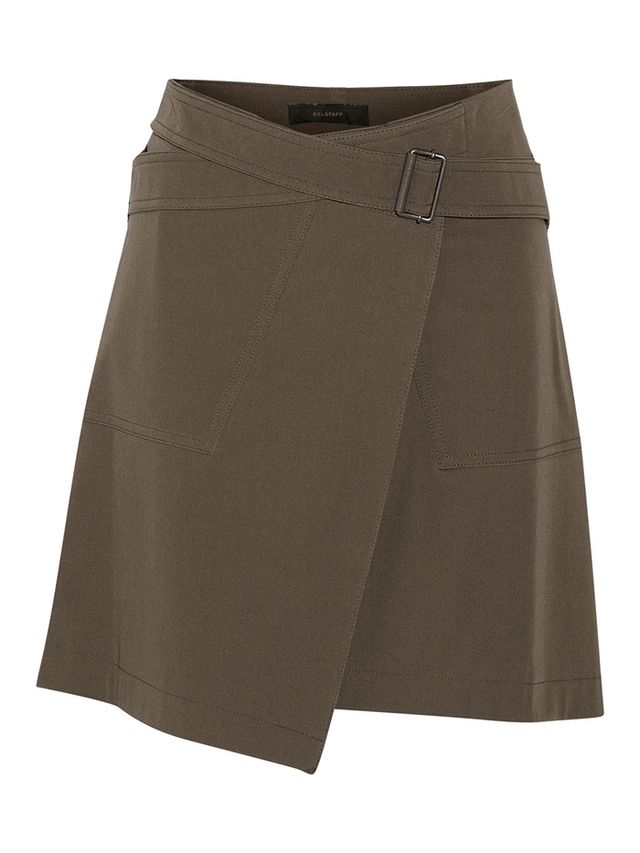 Belstaff Ryder Stretch-Cotton Wrap Mini Skirt