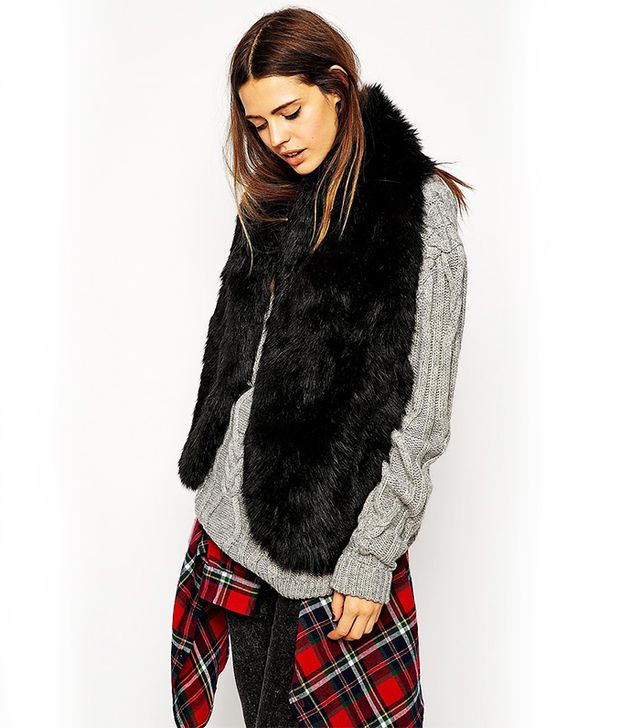Asos Faux Fur Oversized Long Collar