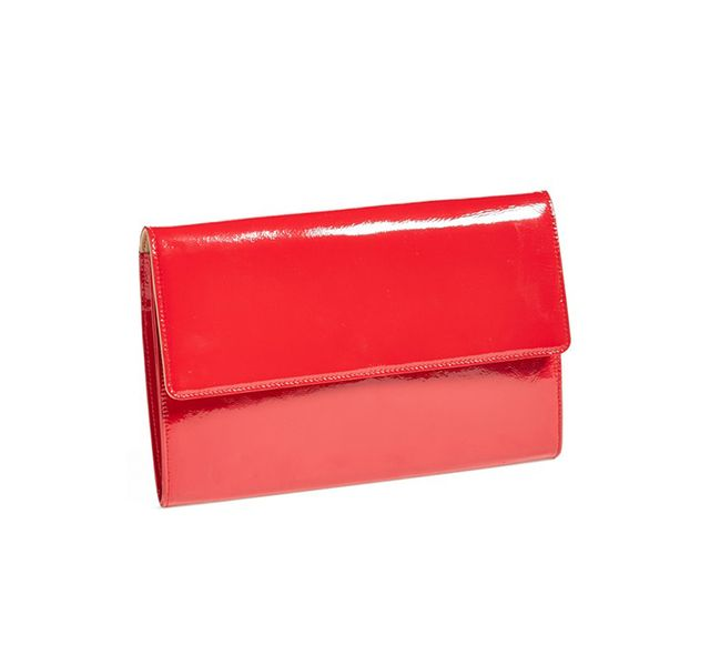 Halogen Patent Leather Clutch