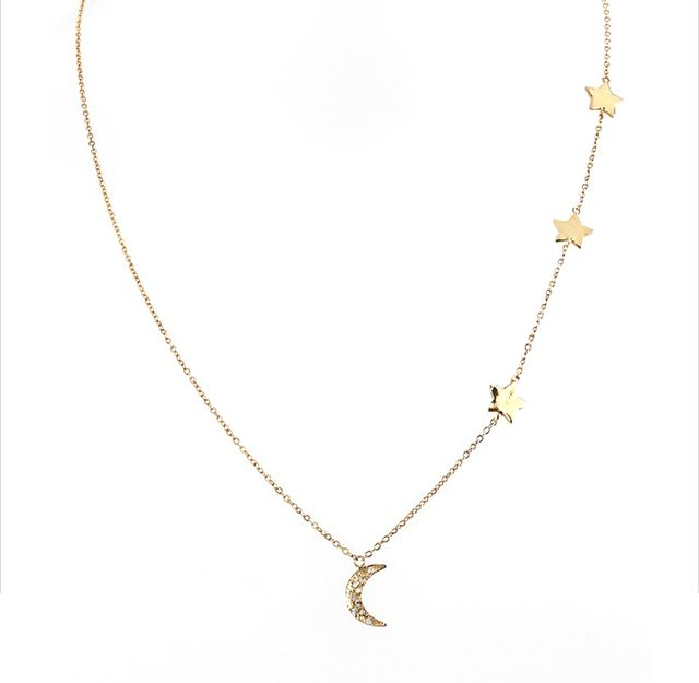 Melinda Maria Moon & Star Necklace