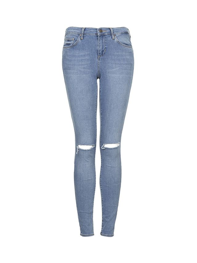 Topshop Moto Salt and Pepper Leigh Jeans