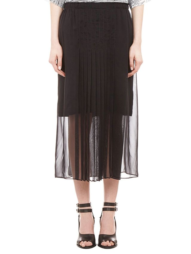 Raquel Allegra Pleated Chiffon Skirt