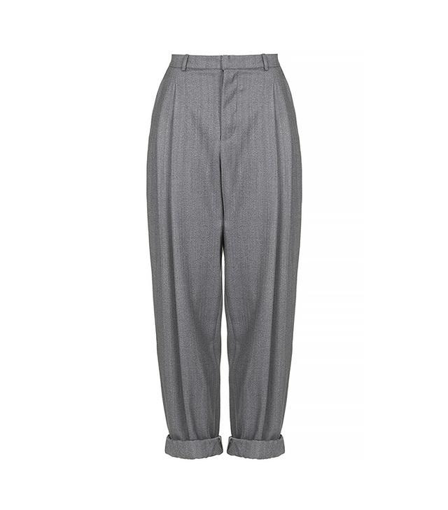 Topshop Tweed Wool Mensy Trousers