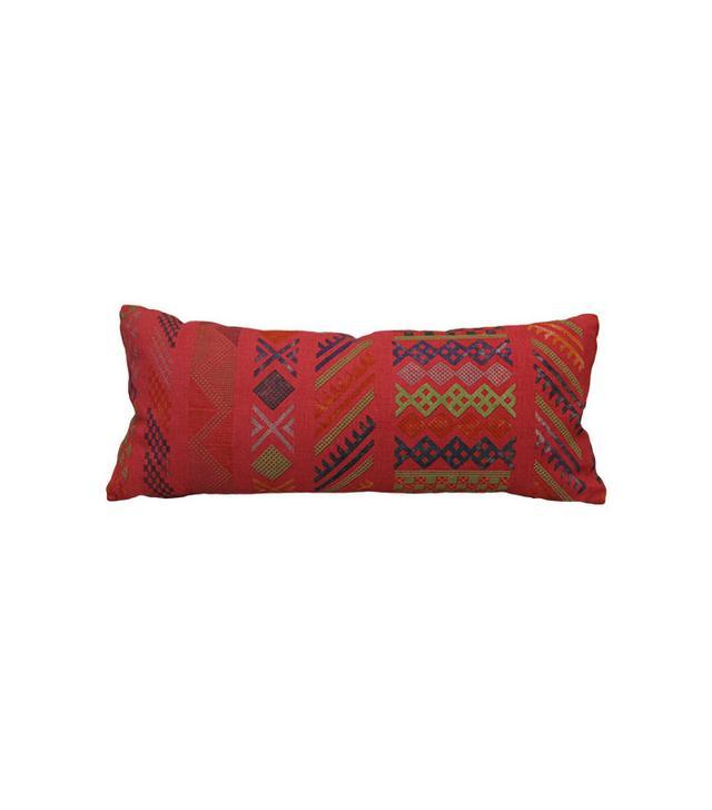 Biscuit Tangier Peony Lumbar Pillow