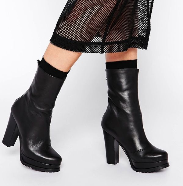 To Be Announced Bow Platform Ankle Boots