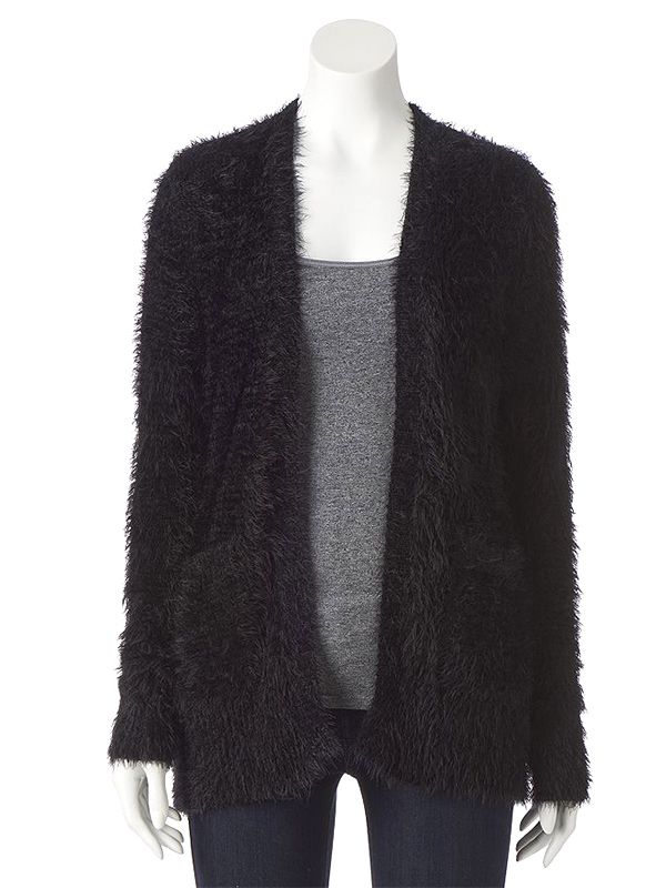 LC Lauren Conrad for Kohl's Eyelash Boyfriend Cardigan
