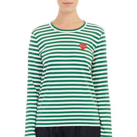 Bar-Stripe Long-Sleeve T-Shirt