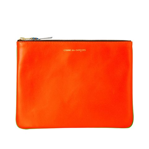 Neon Leather Pouch