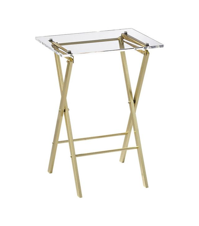 CB2 Novo Acrylic Folding Table