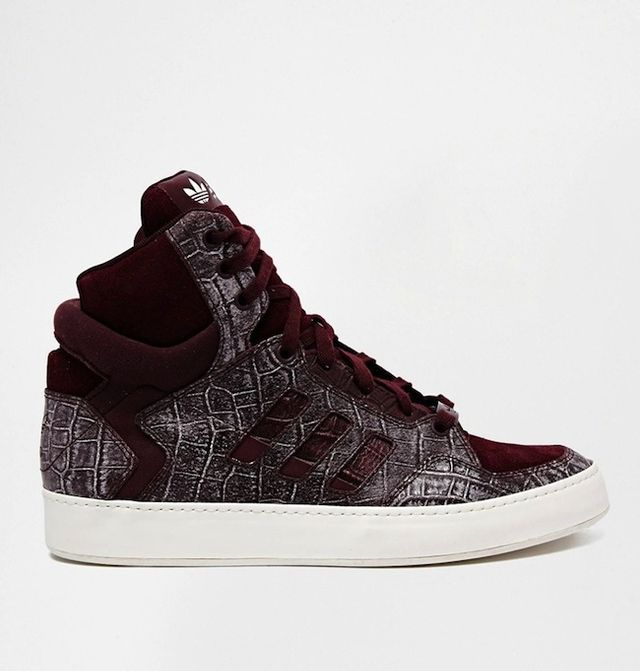 Adidas Originals Bankshot 2.0 Croc Effect High Top Sneakers