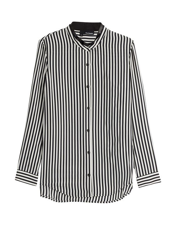The Kooples Striped Silk Shirt