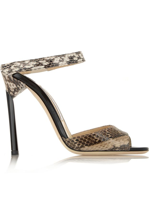 Jimmy Choo Deckle Deckle Elaphe Sandals