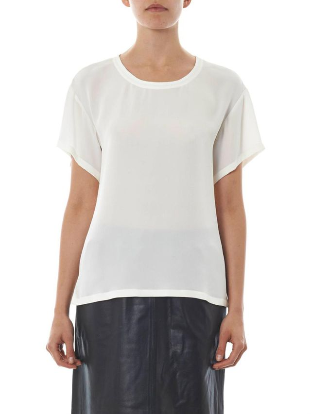 Theory Silk Double-Georgette T-Shirt