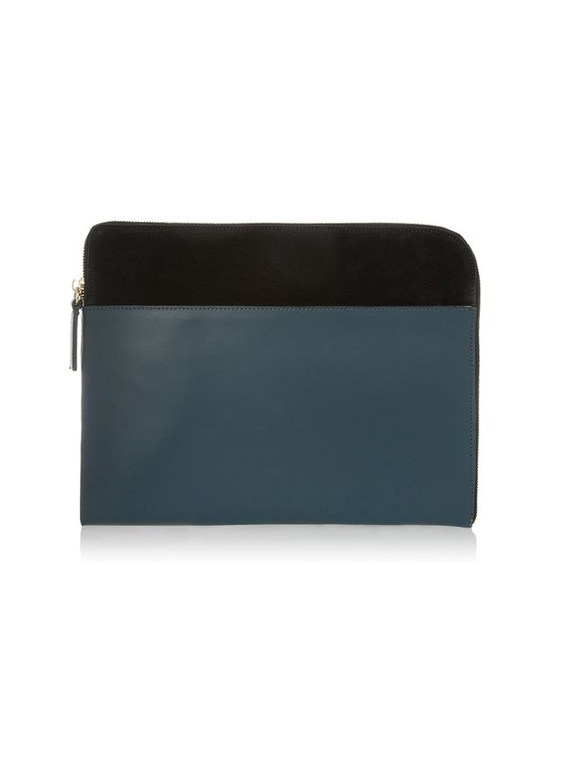 Iris & Ink Leather And Suede Clutch