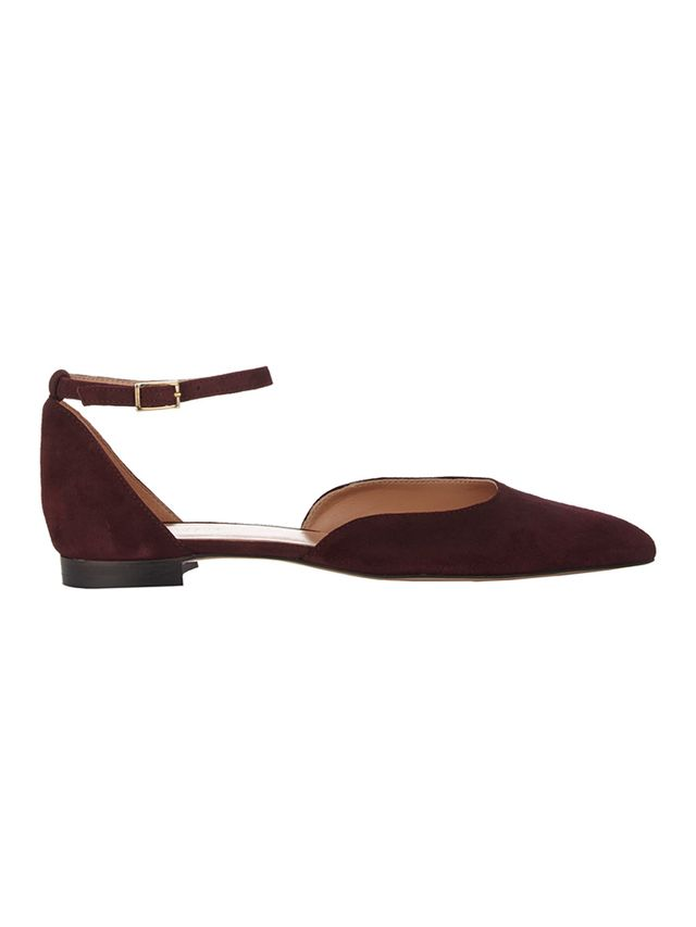 Barneys New York Ankle-Strap D'Orsay Flats