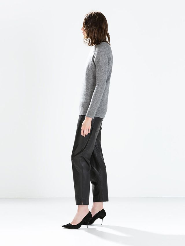 Zara Leather Effect Trousers