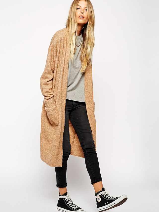 ASOS Longline Cardigan With Mohair