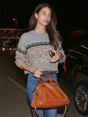 How to Dress Like a Model at the Airport: Lily Aldridge Edition