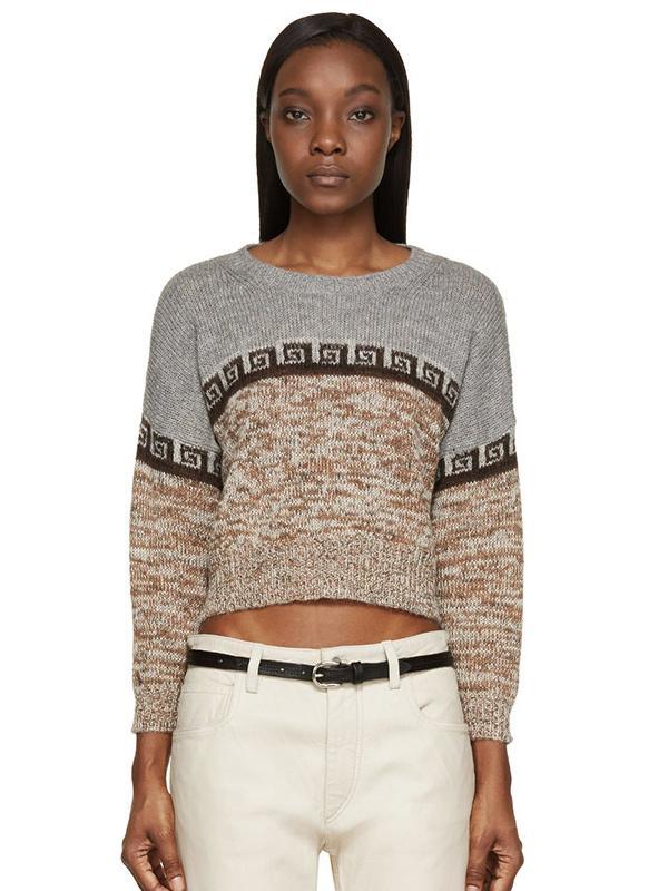 Etoile Isabel Marant Peruvian Knit Cropped Sweater