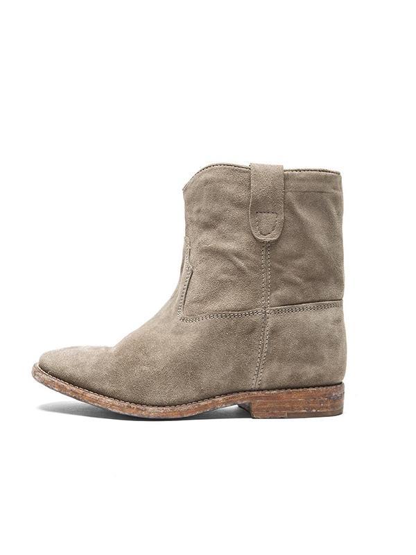 Isabel Marant Crisi Calfskin Velvet Leather Boots