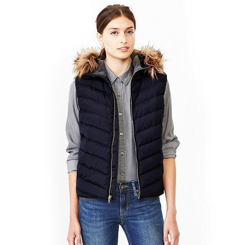 PrimaLoft Luxe Fur-Trim Puffer Vest