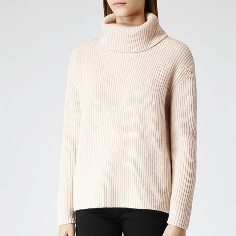 Locke Zip Embellished Roll-Neck Jumper