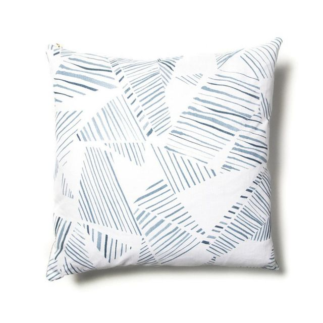 Rebecca Atwood Mixed Stripe Blue-Slate Pillow